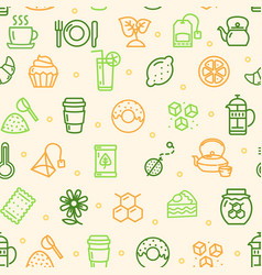 tea ceremony seamless pattern background vector image vector image