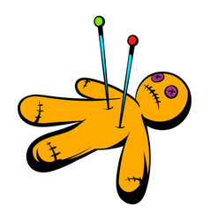 Voodoo doll icon icon cartoon vector