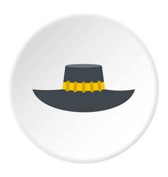 Woman hat icon circle vector