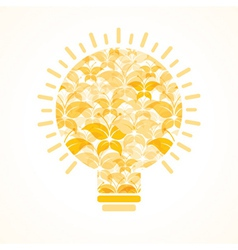 Yellow butterfly make a bulb vector image vector image