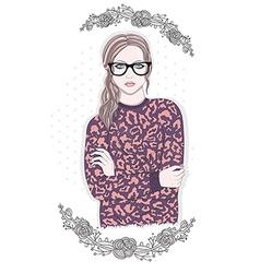 Young fashion girl vector image vector image