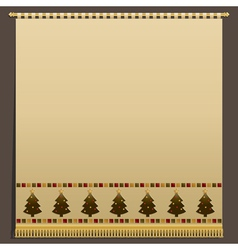 christmas wall hanging vector image
