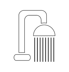 Shower spray icon outline style vector