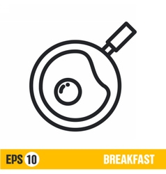 Line icon scrambled eggs vector