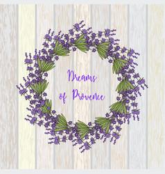 wreath of lavender vector image