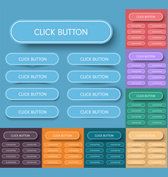 Design of rectangular buttons with rounded vector