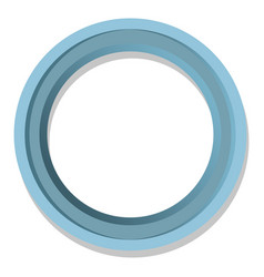 Simple blue round frame isolated vector