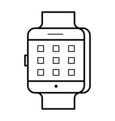 smartwatch line art simple gadget icon vector image