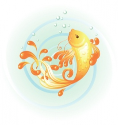 gold carp vector image