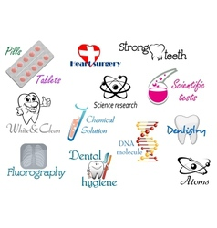 Medicine and science symbols vector