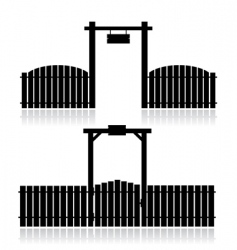 Fence with gate vector