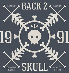 Skull t-shirt design original tee print graphics vector