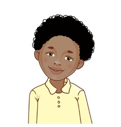 Teenager african american boy with curly hair vector