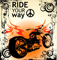 ride your way vector image