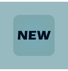 Pale blue new icon vector