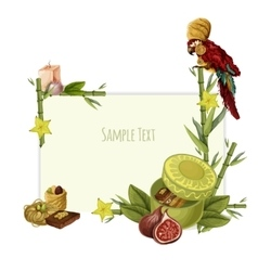 Oriental sweets set vector
