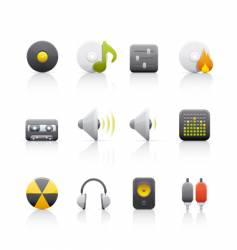 Audio equipment icons vector