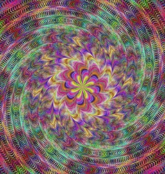 Colorful abstract spiral fractal design vector