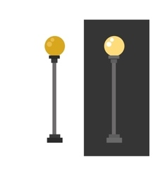 Street lamp urban lantern light flat vector image