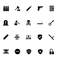 Crime icons 3 vector