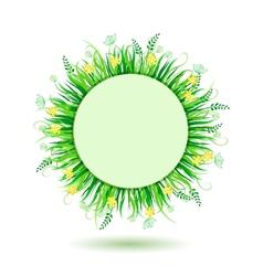 Beautiful green meadow vector