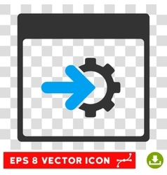 Cog integration calendar page eps icon vector