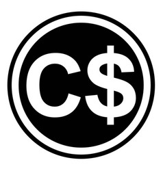 Currency symbol canada canadian dollar vector