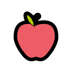 Delicious apple fresh fruit nutrition vector