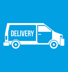 delivery truck icon white vector image