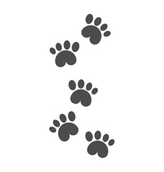 Dog foot tracks isolated steps vector