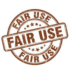 Fair use brown grunge stamp vector