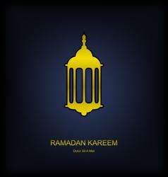 Golden Fanoos on Dark Background for Ramadan vector image vector image