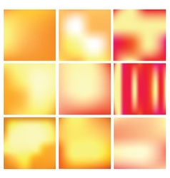 gradient backgrounds in gold and red colors vector image vector image