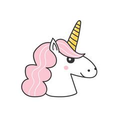 Hand drawn unicorn vector