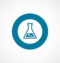 Laboratory bold blue border circle icon vector