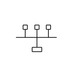 Line ports icon vector