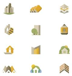 real estate icon set vector image vector image