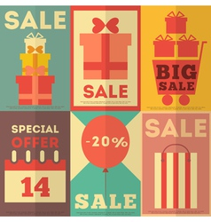 Retro Sale Posters vector image