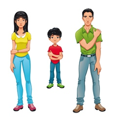 Sick family vector image