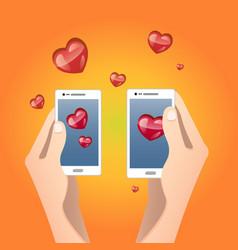 Valentine s day send or receive love vector