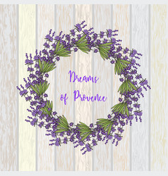 wreath of lavender vector image