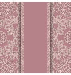 Background with round ornament retro srtyle vector