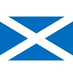 Flag of scotland in correct proportions and colors vector