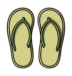 Flip-flops icon in cartoon style isolated on white vector image