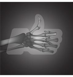 X-ray likethumbs up symbol vector