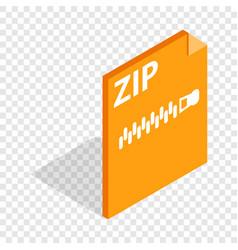Archive zip format isometric icon vector