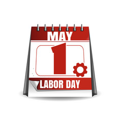 may 1 labor day calaendar workers day vector image