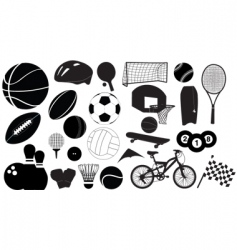 Sports silhouettes vector
