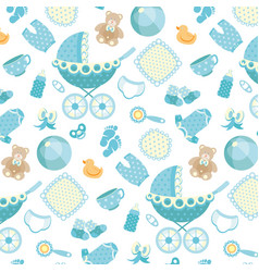 Pattern baby background vector