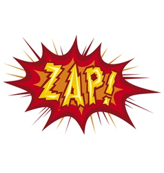 cartoon - zap vector image